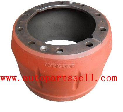 Dongfeng rear brake drum DZ9160340006